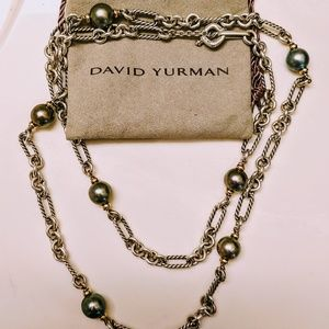 David Yurman .925 Silver Tahitian Pearl Necklace